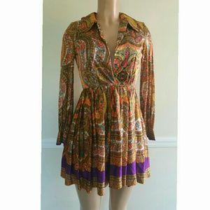 True Vintage Paisley 1970's Baby Doll Dress